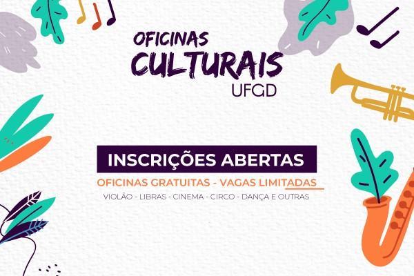 Inscrições para Oficinas Culturais abrem na próxima segunda