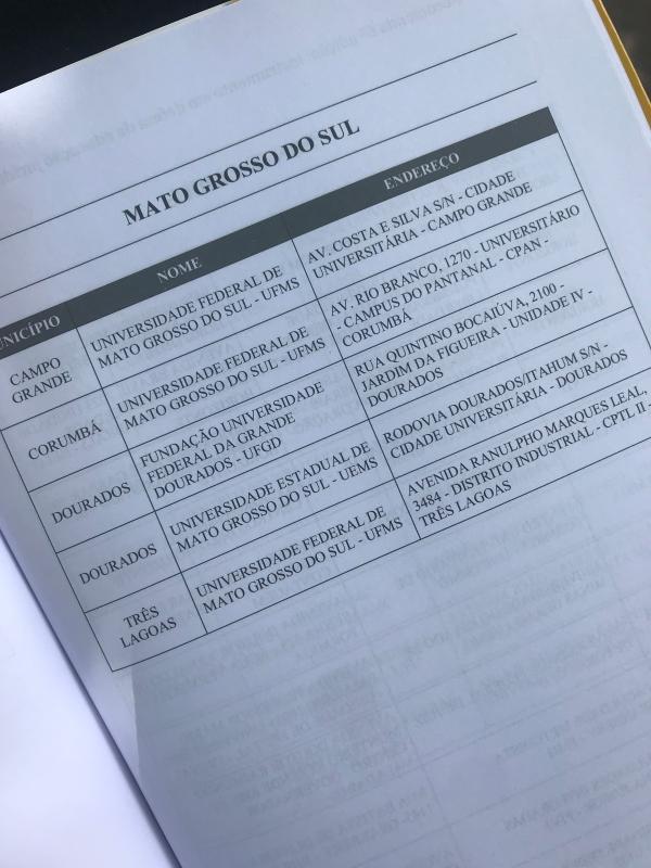 As cinco universidade públicas de MS que receberam o Selo OAB Recomenda.