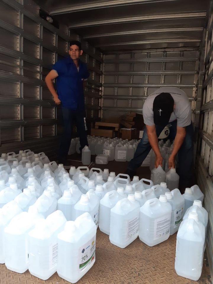 Produção de álcool 70% na UFGD