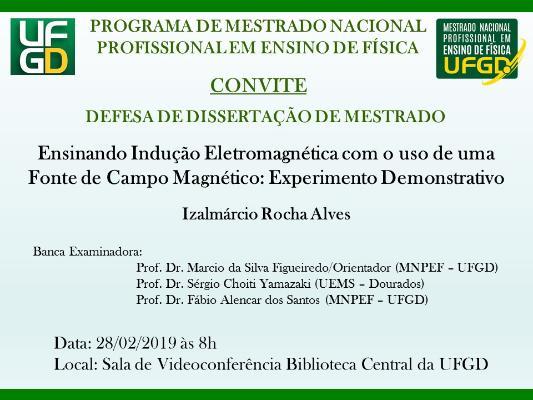 Convite para Defesa Pública de Dissertação - PROFISICA