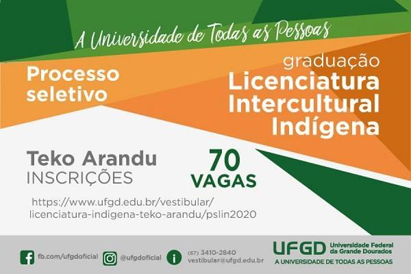 UFGD convoca candidatos para o Vestibular Teko Arandu 2020
