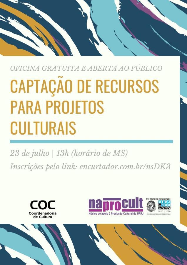 Captação de recursos será tema da próxima oficina cultural da COC